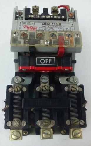 600V AH3 ARROW HART AH32-132U 30A AH32132U 10HP 3PH SIZE 1 USED Starter