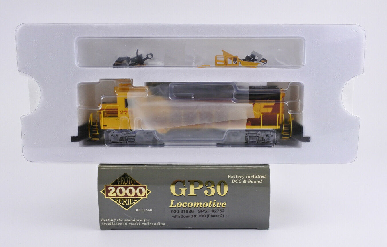PredO 2000 HO SCALE 920 31886 SPSF GP30 DIESEL ENGINE DCC & SOUND