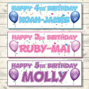 2-PERSONALISED-HAPPY-BIRTHDAY-BALLOON-BANNERS-800mmx297mm-CHOICE-OF-7-COLOURS