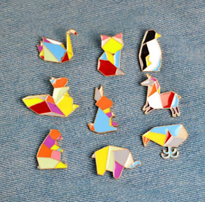 Image Is Loading Fashion Vintage Enamel Lapel Pin Brooch Badge Clothes