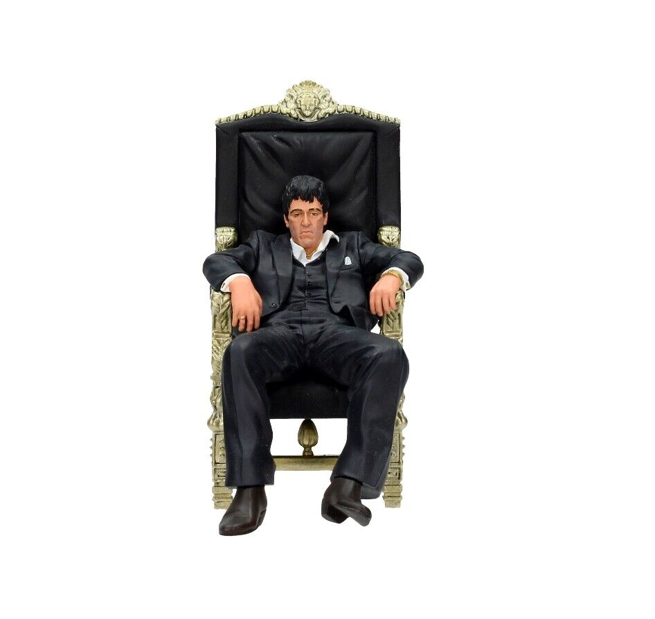 Sautofaccia TONY MONTANA al pacino sitting seduti CHAIR sedia 18cm personaggio SD giocattoli