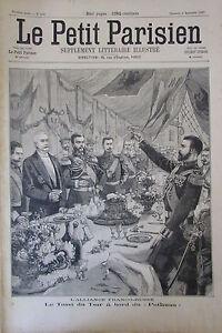 Band-Russian-Czar-and-President-Republic-Faure-Engraving-the-Petit-Parisian-1897