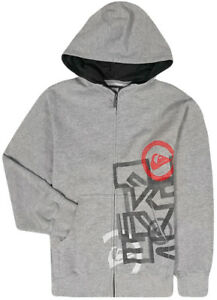 NWT QUICK SILVER BLACK ZIP UP SWEATSHIRT HOODIE YOUTH BOYS XL 16-18