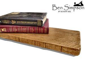 rustique-Etagere-flottante-Tablettes-mince-industriel-bois-handmade-solide-en