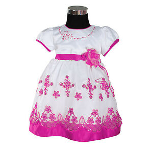 Girls' Clothing (newborn-5t) New Girls Floral Party Pageant Dress In Pink,red,lilac,hot Pink From 6-24 Months Excellent Quality Other Newborn-5t Girls Clothes
