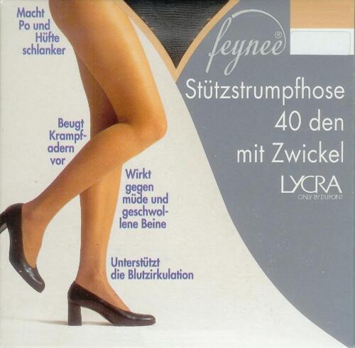 50-54  *feynee* 40den STÜTZ-Strumpfhose formt Po+Hüfte graphit