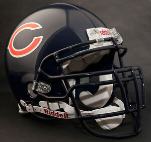 BRIAN-URLACHER-CHICAGO-BEARS-Schutt-RJOP-DW-Football-Helmet-FACEMASK-NAVY-BLUE