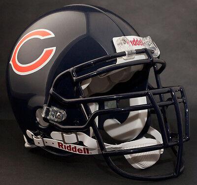 DAN HAMPTON CHICAGO BEARS Schutt NJOP Football Helmet FACEMASK NAVY BLUE