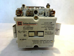 CUTLER HAMMER A202K1CAM LATCHED LIGHTING CONTACTOR 110/120V COIL |