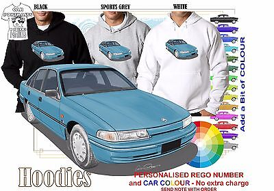 95-97 VS SS COMMODORE SEDAN HOODIE ILLUSTRATED CLASSIC RETRO MUSCLE SPORTS CAR