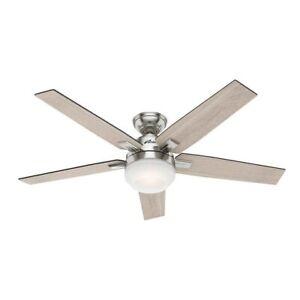 """Antique Gray w Oak Finish Blades Bahama Fans 52/"""" Ceiling Fan"""