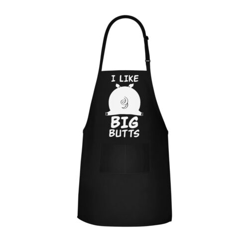 Funny Apron Joke BBQ Cooking Aprons I Like Big Butts Gift For Men or Women