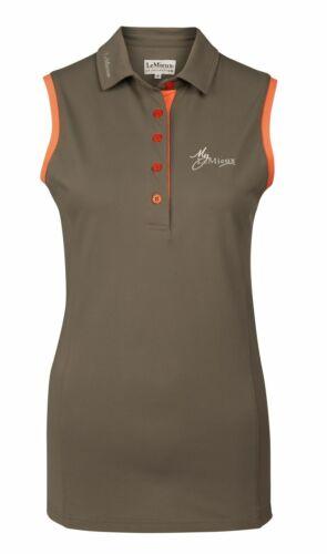 My LeMieux Sleeveless Polo Shirt KHAKI LARGE