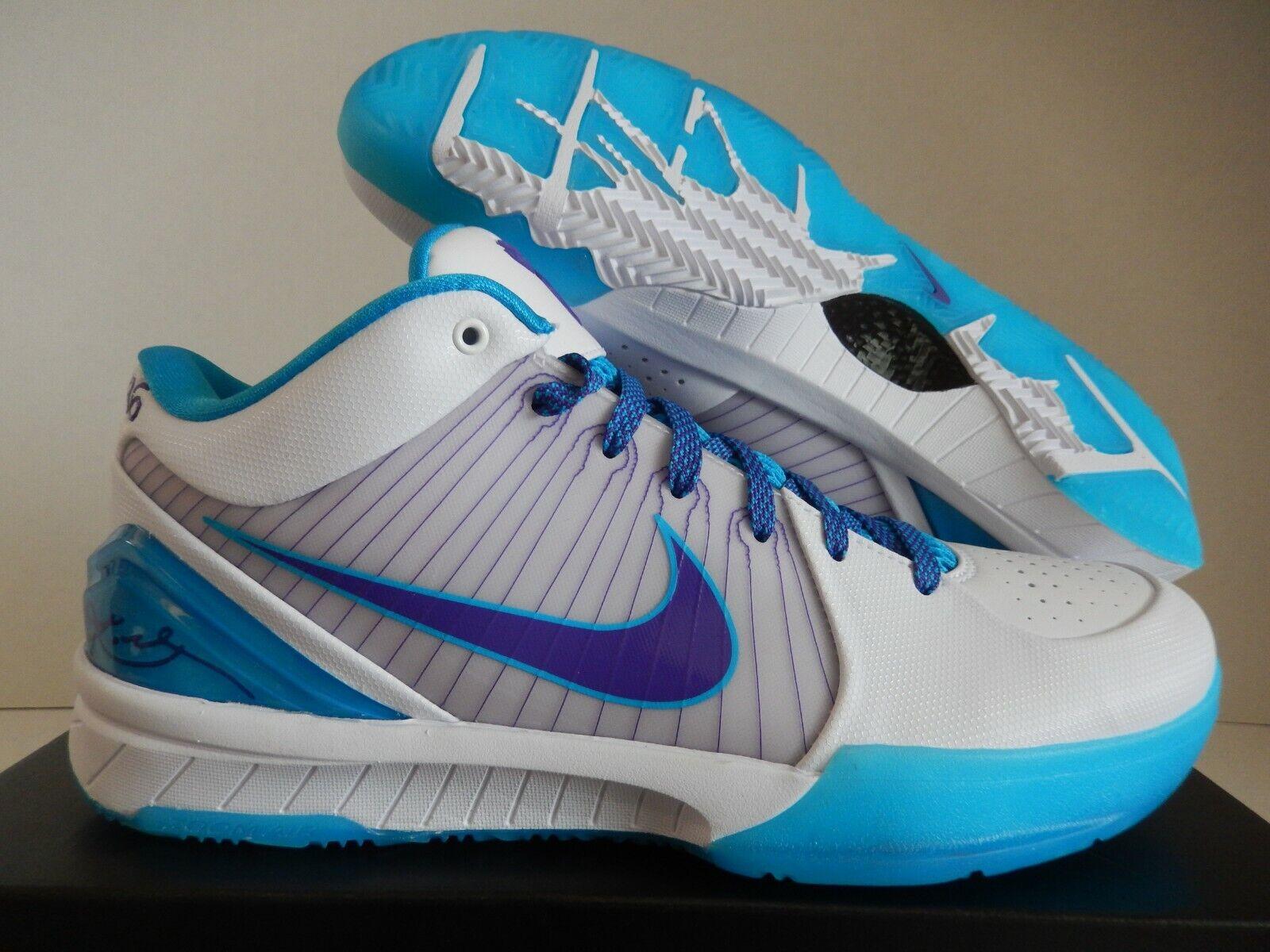 Nike Kobe IV projoro Hornets día del Draft de blancooo-Varsity Púrpura Talla 12