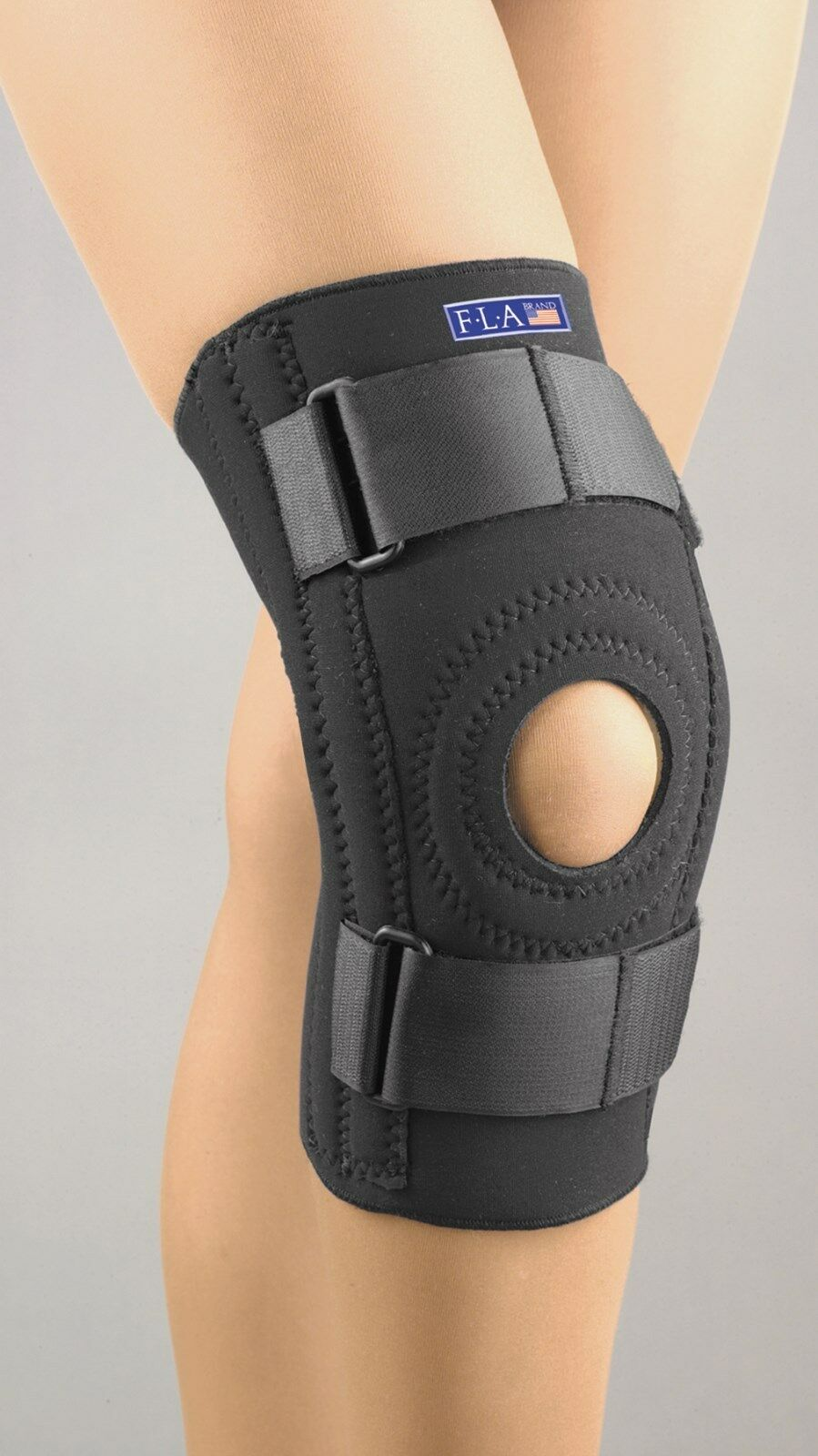 Stabilizing Knee Support Thermal Neoprene Wrap Sprain FLA Orthopedics