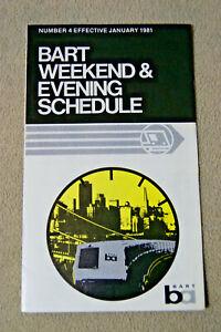 BART-Weekend-amp-Evening-Schedule-No-4-Jan-1981