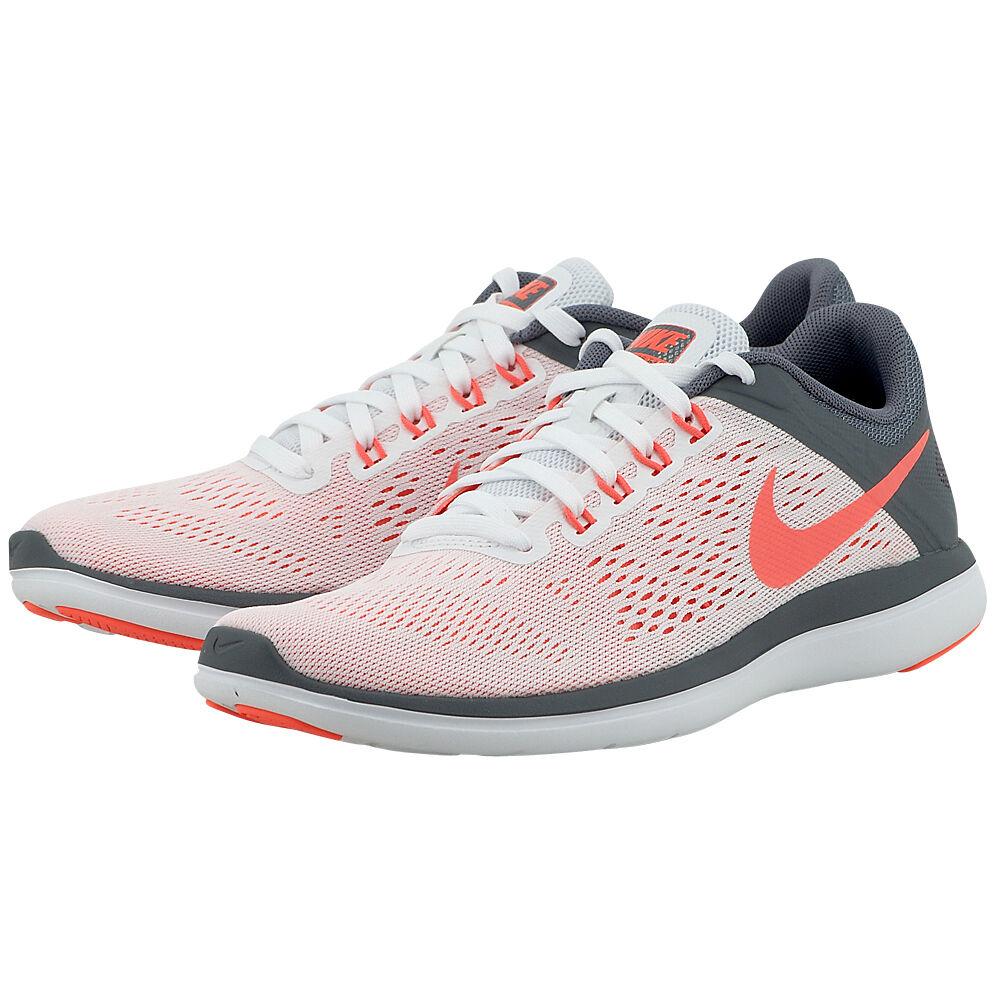 6431612ff2f461 Nike Wmns Flex 2016 RN Running Training shoes White Grey Mango 830751 101  sz 11