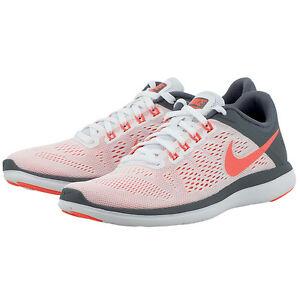 229e0bcf1884 Nike Wmns Flex 2016 RN Running Training Shoe White Grey Mango 830751 ...