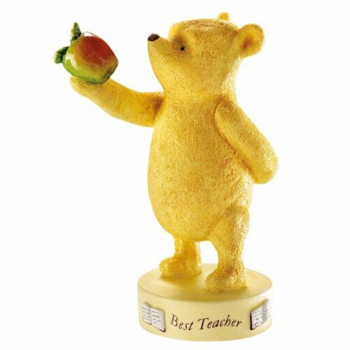/'Best Teacher/' Gift End of Term 20918 Winnie the Pooh with Apple Figurine
