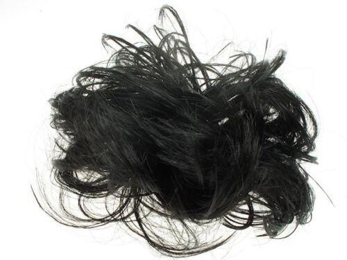 Black Messy Style Synthetic Imitation Fake Hair Scrunchie Bobble Band