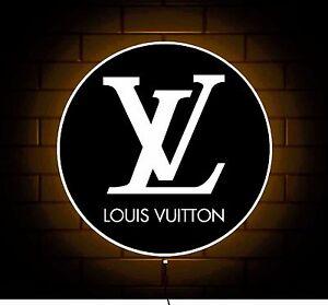 Insignia-con-logotipo-de-Louis-Vuitton-signo-de-Tienda-Caja-de-Luz-LED-Billetera-Bolsa-de-cinturon