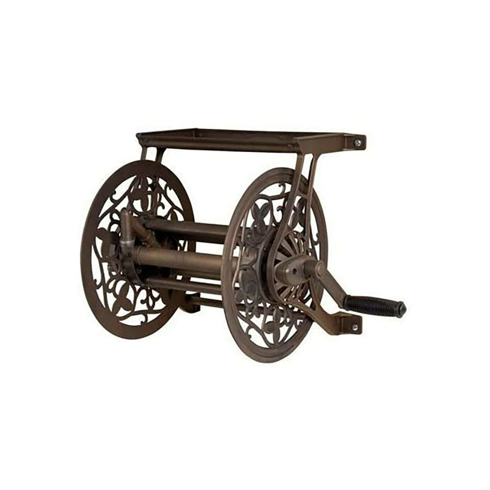 Ames 2398110 Outdoor Wall Mount Hose Reel 125 Foot Corrosion Resistant Metal New