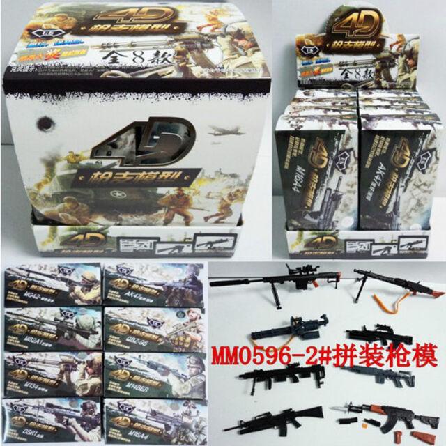 "1//6 Military Weapons Model 4D Gun Puzzle Toy MM0596-2 8PCS Fit12/"" Soldier Figure"