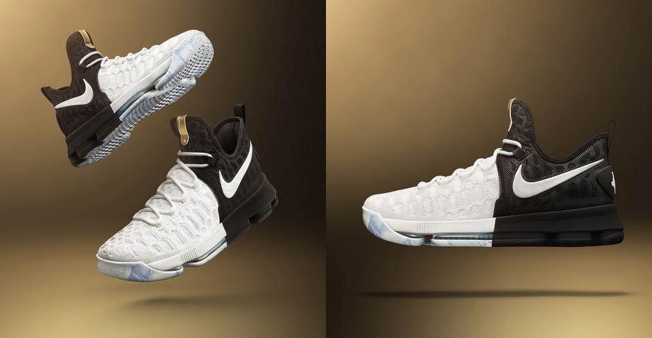 Nike Zoom KD 9 BHM GOLD noir History Month blanc 860637-100 Kevin Durant sz 13