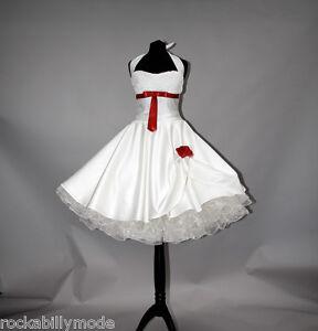 Brautkleid Hochzeitskleid kurzes 50er Petticoat Standesamt kleid creme ...