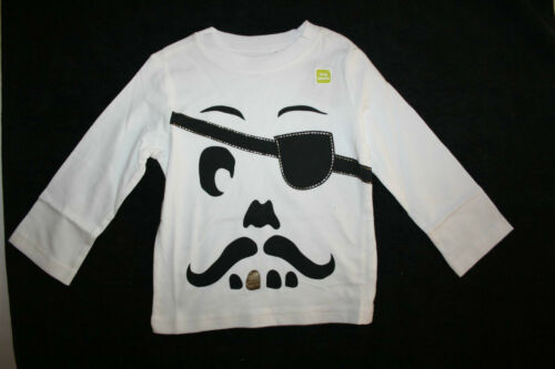 New Crazy 8 Boys Halloween Funny Pirate Mustache Gold Tooth Top NWT4t Tee
