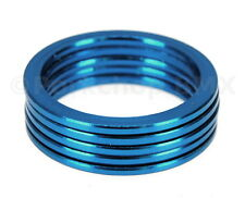 "Bicycle BMX or MTB headset spacers for 1 1/8"" threadless (SET of 5) 2mm - BLUE"
