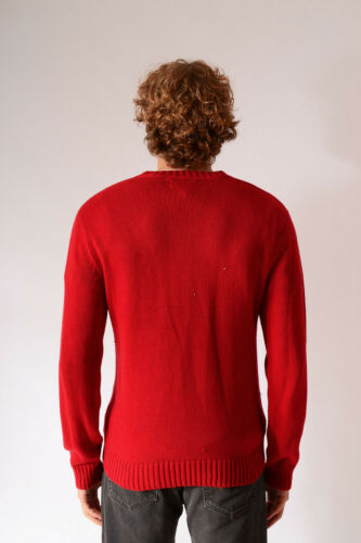 VINTAGE CHAPS BY RALPH LAUREN V-NECK THICK KNITTED JUMPER SWEATER XS S M L XL XX