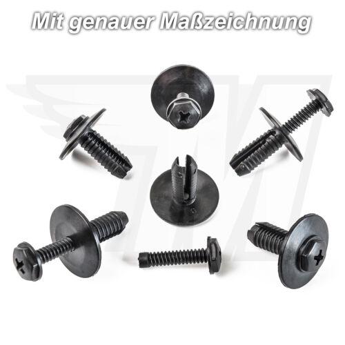 5x Fixation Clips Carrosserie spreizniete pour BMW 3er 5er 6er 751718259788