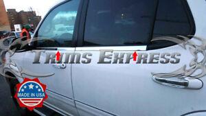 2001-2007-Toyota-Sequoia-4Pc-Chrome-Window-Sill-Trim-Overlay-Stainless-Steel
