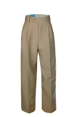 Boy Toddler Kid Formal Wear Uniform Pants in Taupe with belt sz 2T 3T 4T 4,5,6,7