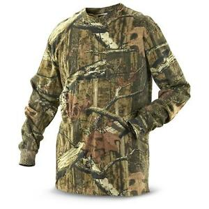 Mens-Camouflage-Camo-Real-Tree-Jungle-Forest-Print-LONG-Sleeved-T-Shirt-Top