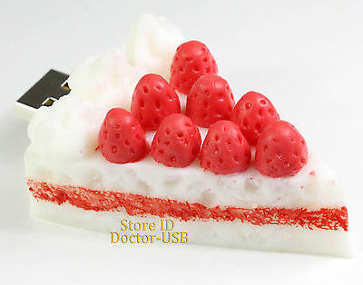 Strasberry Cake Memory Flash USB Drive Genuine Pendrive Stick 2.0 Birthday Gifts