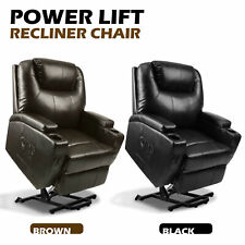 Power Leather Lift Chair Armchair Sofa Recliner Elderly Seat Massage or Normal