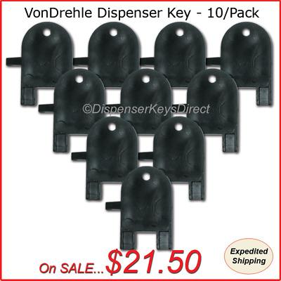 """10//pk. /""""Universal/"""" Skeleton Key for Paper Towel /& Toilet Tissue Dispensers"""
