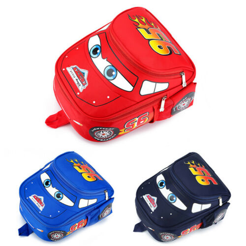 Lightning McQueen Backpack Cars School Bag Rucksack Boys Girls Satchel Bags