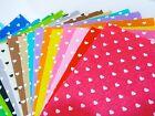 Heart Print Patterned Acrylic Felt Sheet 30cm x 30cm - 19 colours