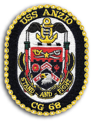 CG-68 USS ANZIO US NAVY Cruiser Ship Squadron Patch