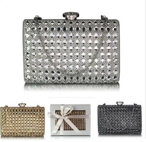 f144e0b75d0 Details about Ladies Women's Night Out Evening Clutch Bag Crystal Diamante  Prom Wedding 267