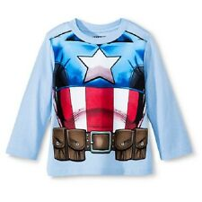 Boys Marvel Avengers Captain America Graphic Shirt New with Tags Size 5T NWT Kid