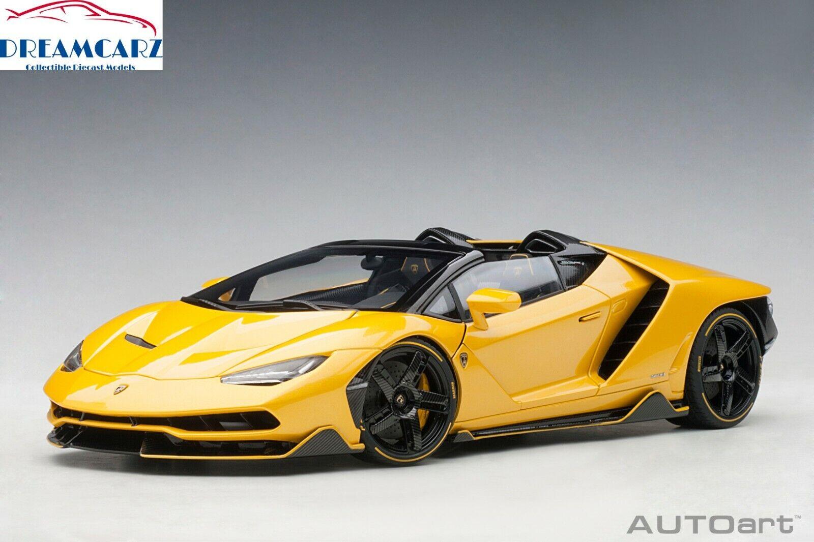 AUTOart 79117 1 18 Lamborghini Centenario Roadster - yellow Inti (Pearl Yellow)