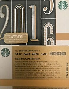 "2015 STARBUCKS ""NEW YEARS"" GIFT CARD #6112 LTD EDITION NO ..."