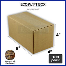 100 8x4x4 Cardboard Packing Mailing Moving Shipping Boxes Corrugated Box Cartons