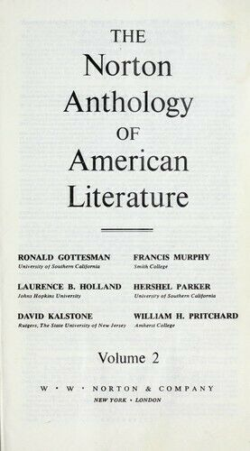 Norton Anthology of American Literature by Gottesman, Ronald