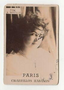 Paris-Cigarrillos-Habanos-Sepia-Photo-Series-Tobacco-Card-224-A-Rozen