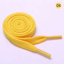 Pair Yellow Flat Strings Wide Shoelaces for Sports Shoes T5H4